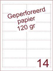 A4 Laser papier 120gr geperforeerd 95,5 x 37,5mm ds1700vel