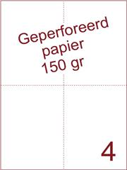 A4 Laser papier 150gr geperforeerd 210 x 74,25 mm ds1200vel