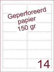 A4 Laser papier 150gr geperforeerd 95,5 x 37,5 mm ds1200vel