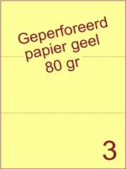 A4 Laser papier geel 80gr geperforeerd 210 x 99mm ds2500vel