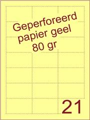 A4 Laser papier geel 80gr geperforeerd 61 x 38mm ds2500vel