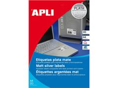 Etiket polyester zilver rond 40mm (480) ds20vel A4 Agipa