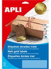 Etiket goudkleurig 38,1x21,2 mm (1300) ds20vel A4 Apli