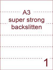 Etiket A3 wit papier superstrong 297x420 ds 450vel rugslitten van 29,7cm om de 7cm