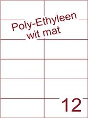 Etiket Poly-Ethyleen wit mat (12) 105x49,5 ds300vel A4 (PEH 12-2)