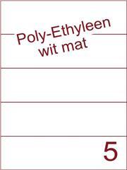 Etiket Poly-Ethyleen wit mat (5) 210x59,4 ds300vel A4 (PEH 5-1)