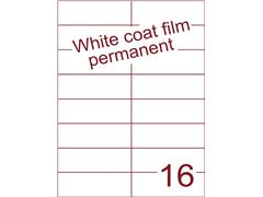 Etiket Whitecoat film wit mat 105x37,1 (16) ds300vel A4 (WFH 16-3)