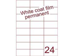 Etiket Whitecoat film wit mat 70x37,1 (24) ds300vel A4 (WFH 24-3)