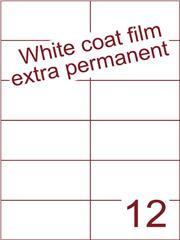 Etiket Whitecoat film wit mat extra permanent 105x49,5 (12) ds300vel A4 (WFH 12-2)