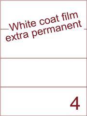 Etiket Whitecoat film wit mat extra permanent 210x74,25 (4) ds300vel A4 (WFH 4-1)