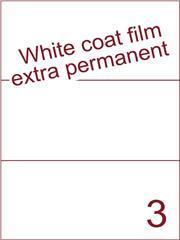 Etiket Whitecoat film wit mat extra permanent 210x99 (3) ds300vel A4 (WFH 3-1)