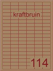 Etiket kraft bruin 30x15mm (114) ds100vel A4