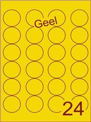 Etiket geel rond ø40mm (24) ds200vel A4