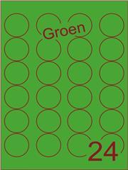 Etiket groen rond ø40mm (24) ds200vel A4