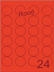 Etiket rood rond ø40mm (24) ds200vel A4