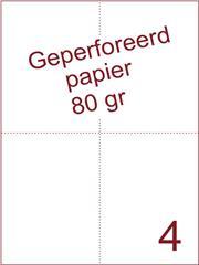A4 Laser papier 80gr geperforeerd 210 x 74,25mm ds2500vel