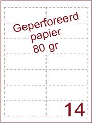 A4 Laser papier 80gr geperforeerd 95,5 x 37,5mm ds2500vel