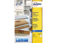 Etiket AVERY Inkjet 99,1 x 67,7 transparant/pak 200