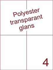 Etiket 105x148,5 (4) polyester Transparant glans ds100vel A4 (POH4-2)