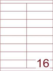 Etiket 105x33,9 (16) wit ds1000vel (HG16-2B)