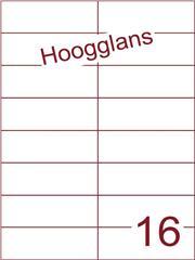 Etiket 105x37,1mm (16) hoogglans wit ds500vel A4 (H 16-2)