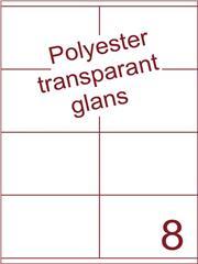 Etiket 105x71 (8) polyester Transparant glans ds100vel A4 (POHG8-2)