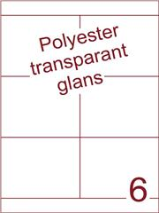 Etiket 105x85 (6) polyester Transparant glans ds100vel A4 (161172trgl)