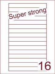 Etiket super strong 145x17 (16) Videolabels ds500vel