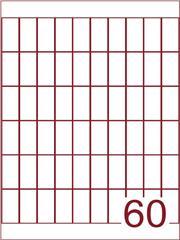 Etiket 19x43 (60) wit ds600vel A4