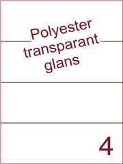 Etiket 210x74,25 (4) polyester Transparant glans ds100vel A4 (POH4-1)