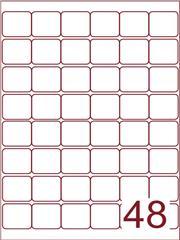 Etiket 32x32 (48) wit ds600vel A4