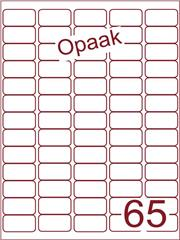Etiket opaak wit 38,1x21,2 (65) ds200vel A4 (A65-5)