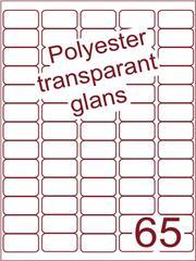 Etiket 38,1x21,2 (65) polyester Transparant glans ds100vel A4 (POA65-5)
