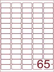 Etiket 38,1x21,2 (65) wit ds1000vel (A65-5) speciaal voor GLS