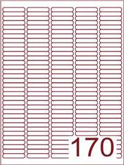 Etiket 38,1x8 (170) wit ds1000vel A4 (A170-5)