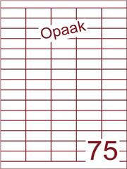 Etiket opaak wit 40x18 (75) ds200vel A4 (HG75-5)