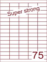 Etiket 40x18 (75) super strong ds500vel A4 (HG75-5)
