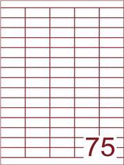 Etiket 40x18 (75) wit ds1000vel A4 (HG75-5)