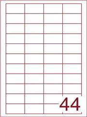 Etiket 45,7x25,4 (44) wit ds600vel A4