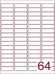 Etiket 48,3x16,9 (64) wit ds600vel A4