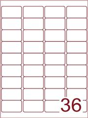 Etiket 48,3x29,7 (36) wit ds1000vel A4 (A36-4)