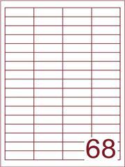 Etiket 48,5x16,9 wit (68) ds1000vel A4