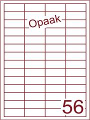 Etiket opaak wit 48x20 (56) ds200vel A4 (HG56-4)