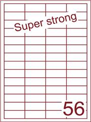 Etiket 48x20 (56) super strong ds500vel A4 (HG56-4)