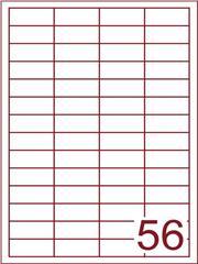 Etiket 48x20 (56) wit ds1000vel (HG56-4)