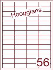 Etiket 48x20mm (56) hoogglans wit ds500vel A4 (HG 56-4)