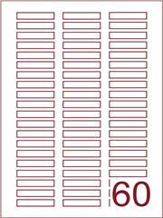 Etiket 49,6x10,4 (60) wit ds600vel A4