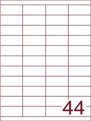 Etiket 50x25 (44) wit ds600vel A4