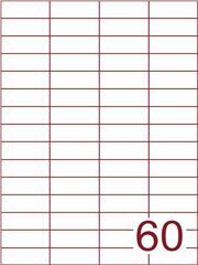 Etiket 52,5x19,8 (60) wit ds600vel A4