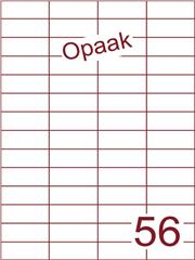 Etiket opaak wit 52,5x21,2 (56) ds200vel A4 (H56-4)
